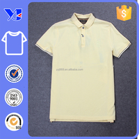 100% cotton blank with side hem opening polo wear man golf t-shirt