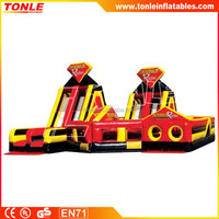 large Double Rush inflatable obstacle course for sale