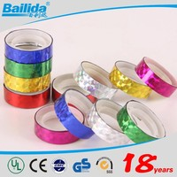 top sale alibaba china supplier colorful 20m decorative laser reflective tape