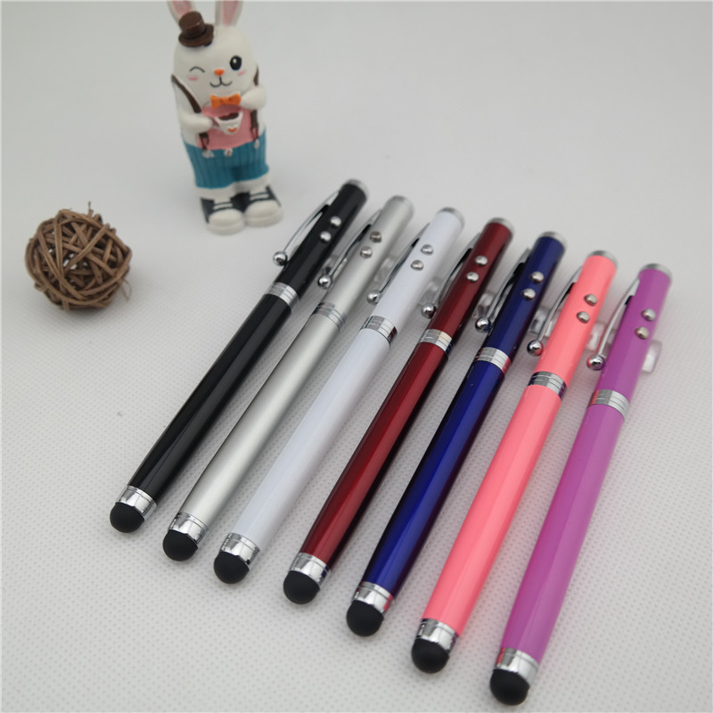 LED 4 in1 Laser Pointer Stylus Ball Point Pen with Light up