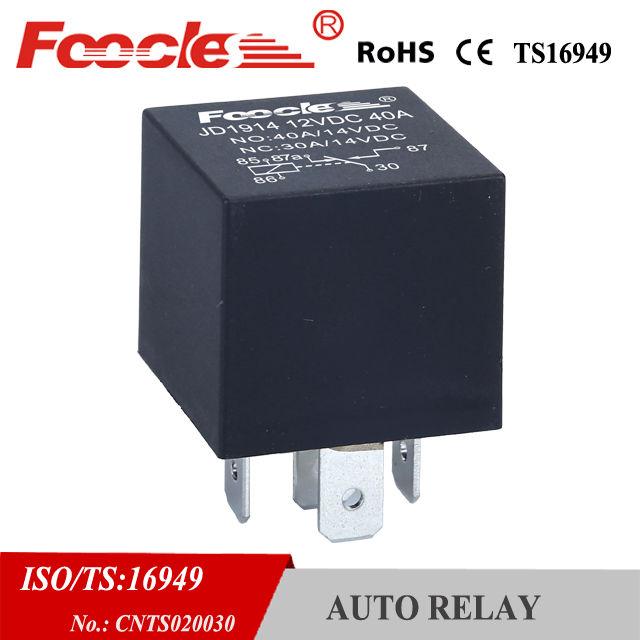 automotive spare part jd1914 universal auto relay 12v 40a