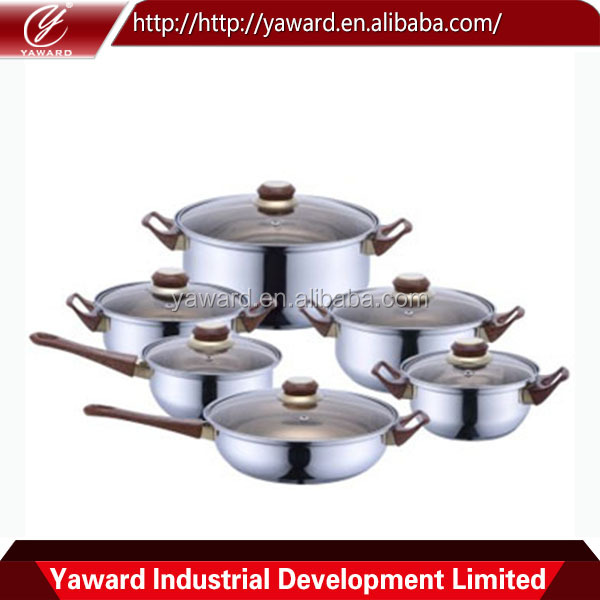 Belly Shaped Royalty Line 12pcs Cookware Set With Pots and Pans