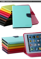 Luxury High Quality PU Leather Case For Ipad Air,Mercury Goospery Fancy Diary For Ipad Air Case