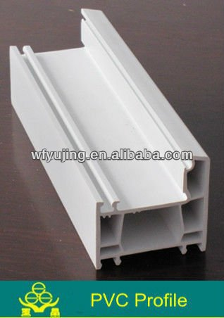 High quality white pvc profile extrusion for window frame