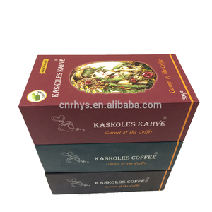 custom coffee color rigid voice tube packaging gift paper box