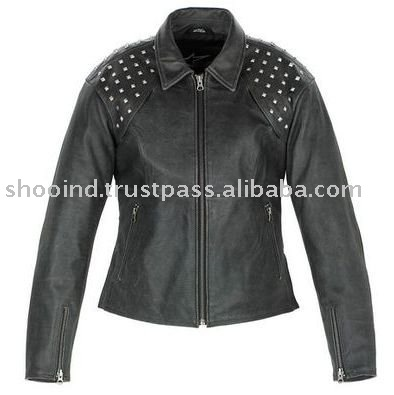 medieval leather jacket,kids black leather Ladies jacket