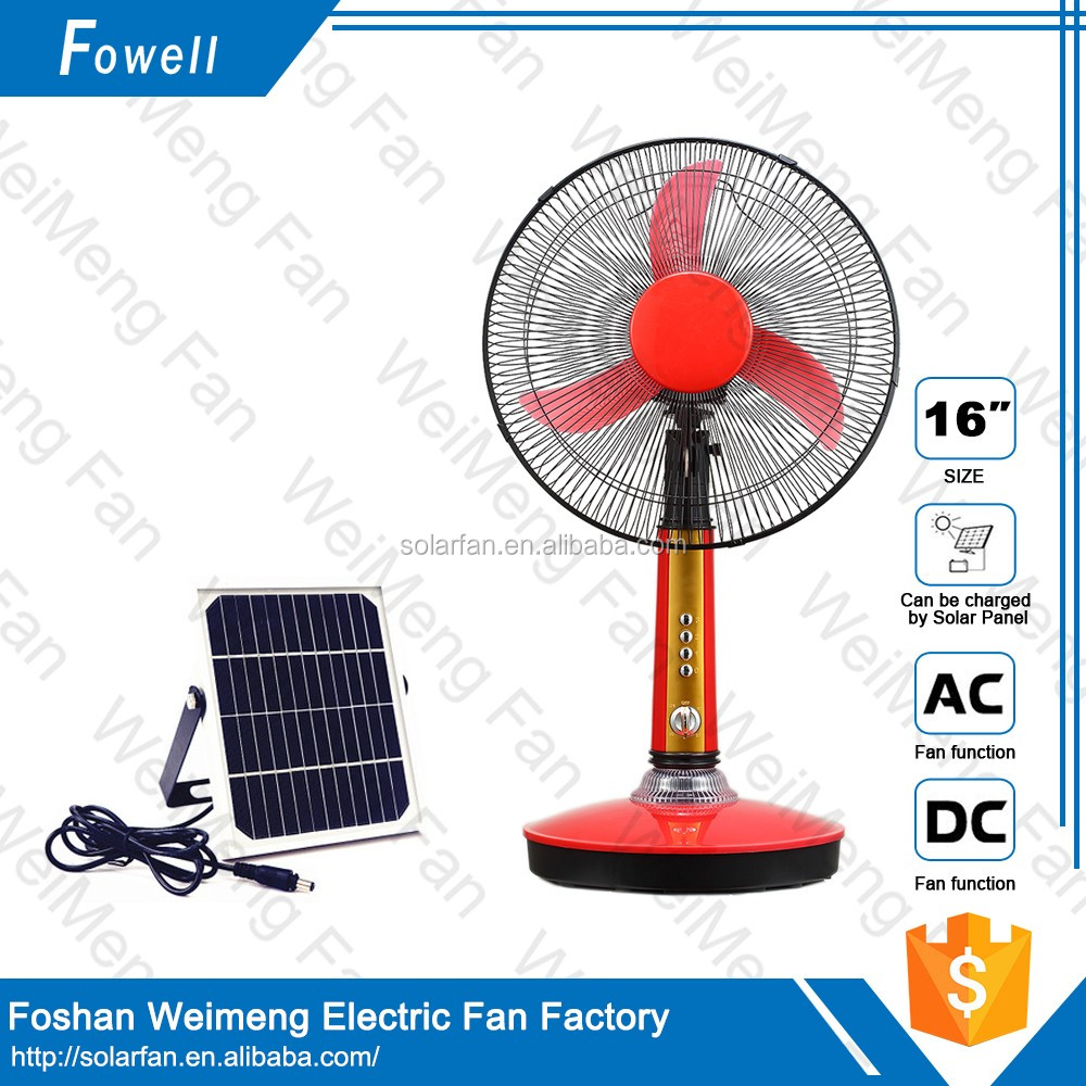 Hot Sales Home Use Long Life Time 12Volt Battery Rechargeable Table Fan