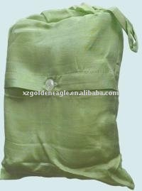 Travelling 100% Silk Sleeping Bag Liner Light Green