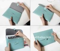 ice cream color pu leather laptop sleeve bag for ipad ipad 2