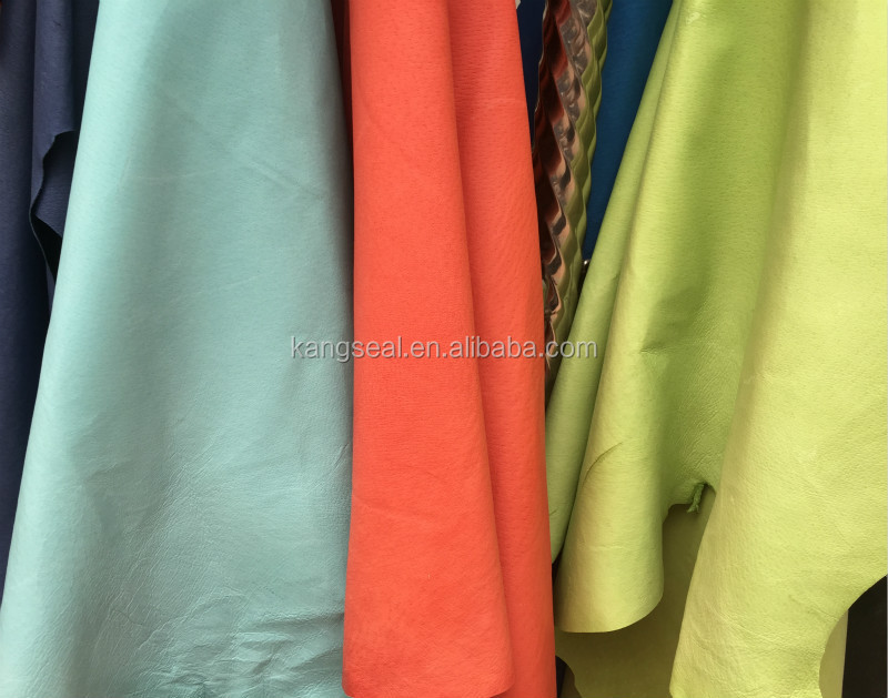 Blue, orange, green etc color pig grain leather for shoes lining, pig nappa, genuine pig leather
