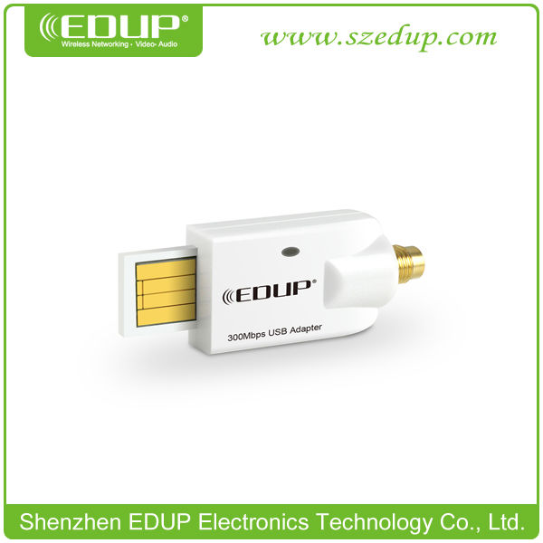 Hot Products 802.11N EDUP EP-MS15003 300Mbps WiFi Dongle Wireless / WiFi USB Laptop Adapter with External Antenna