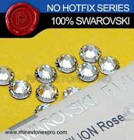 New Style Swarovski Elements Clear (001) 8ss Flat Back Crystal No Hotfix Rhinestone