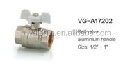 Top selling wholesale brass ball valve with butterfly handle ( VG-A17202 )