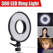 Falcon Eyes DVR-300DVC Dimmable 300-LED Ring Panel Video Light with 3000-8000K Color Temperature