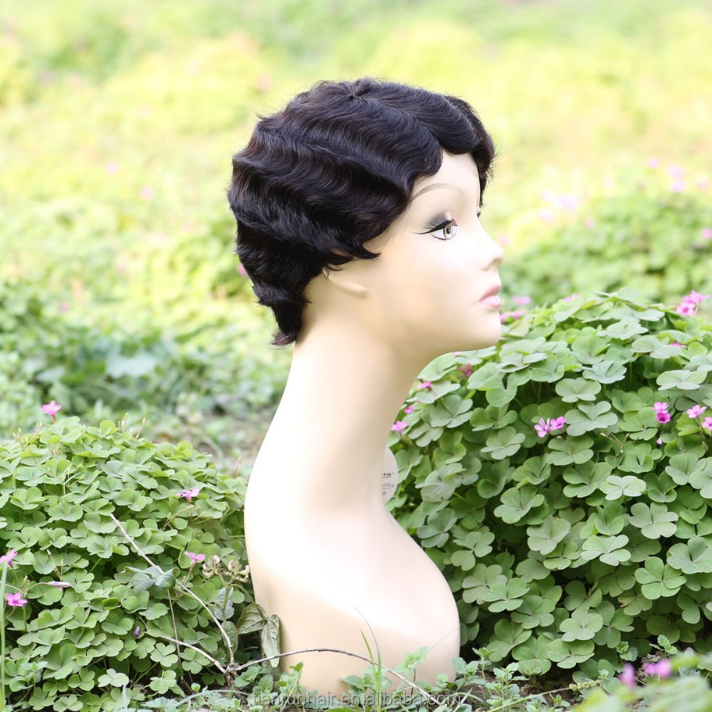 wholesale alibaba short afro kinky lace human hair wigs