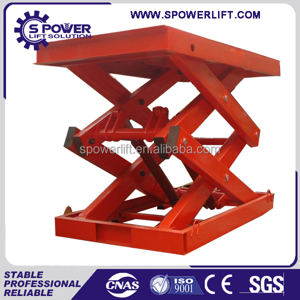 Star products!!!Stationary hydraulic lift platform scissor car lift