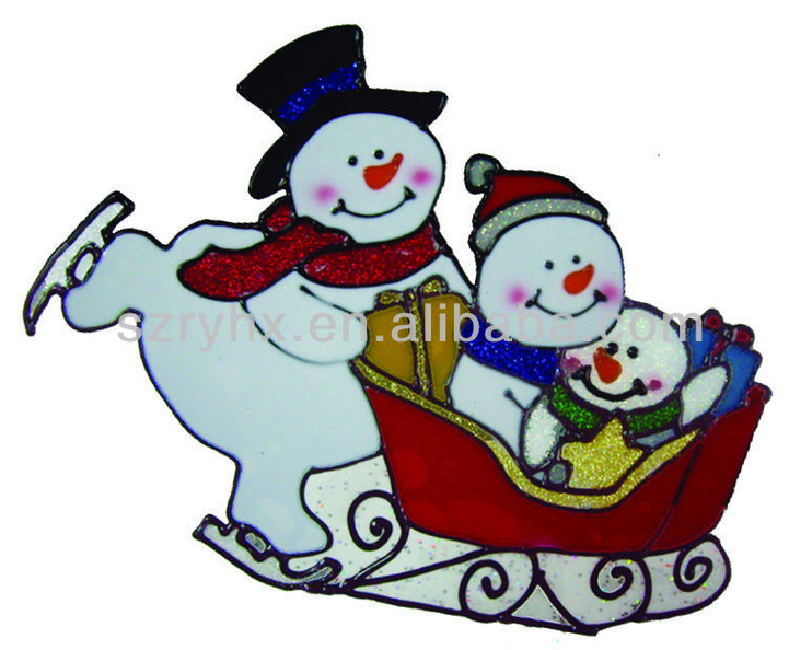 Factory wholesale christmas <strong>decorations</strong>, new years window sticker christmas tree