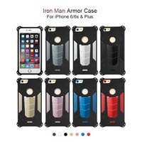 hottest selling high quality rugged colorful mobile phone case armor back cover case for iphone 6 plus