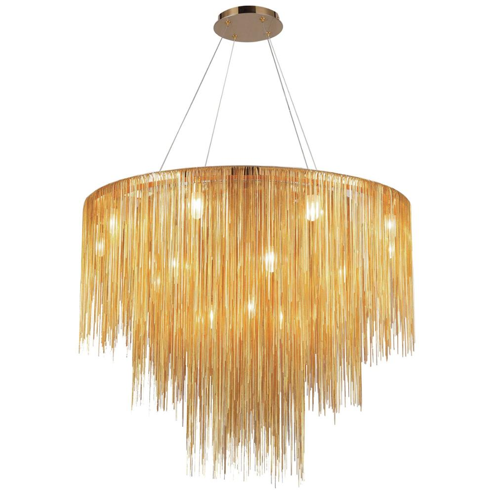 New Designer Aluminum Modern Crystal Lighting Chandelier for Ballroom