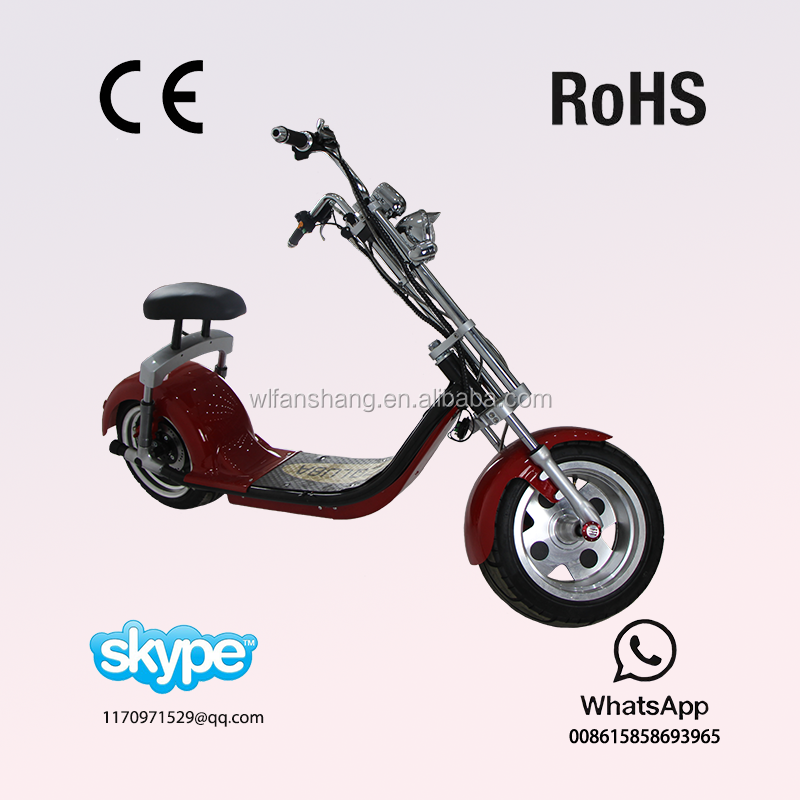 60V 22AH Lithium Battery the most fashionable citycoco 2 wheel electric scooter, adult electric motorcycle