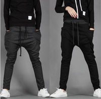 New Men Regular Fit elastic straps Sports Harem Pants Bag Jogging Trousers men harem pants wholesale