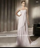 2012 Elegant chiffon strapless applique with lace design baju pengantin XZ-wd1518