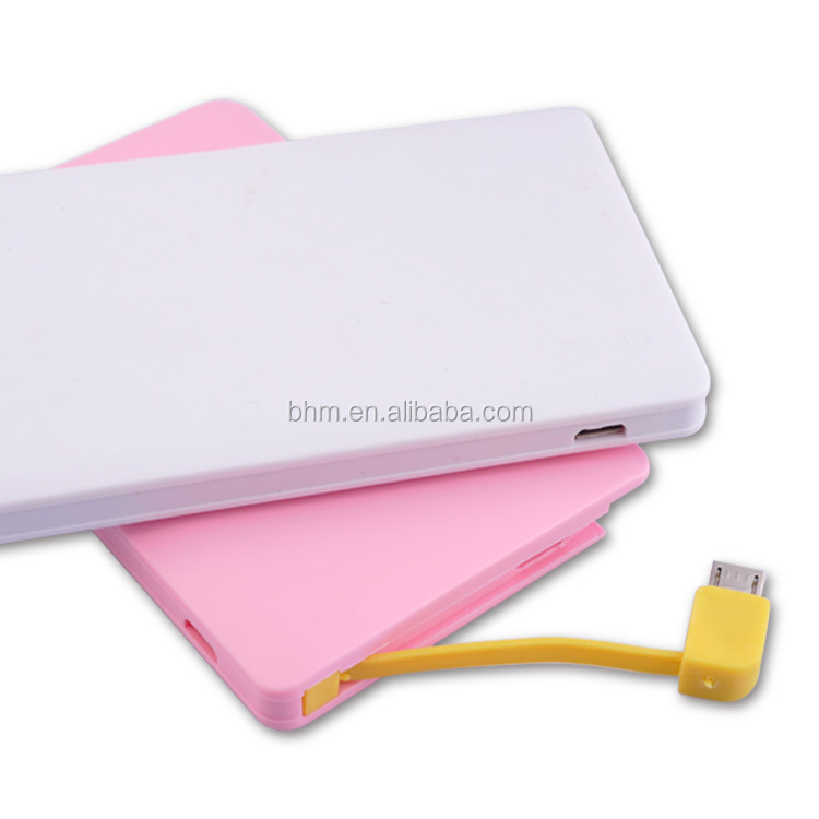 New arrival ultra-thin credit card power bank, solar power bank 2000