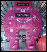 New inflatable watch gate, trade show inflatable wathc arch, inflatable exhibition watch