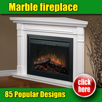 New design white marble corner electric fireplace