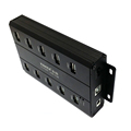 Black Color Metal 10 Port 12V 5A Generic Charging and Sync USB HUB
