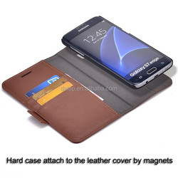 leather phone case for galaxy s7 edge detachable for samsung galaxy case oem