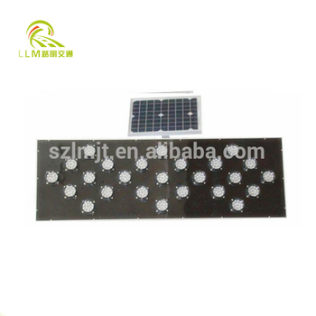 Reflective solar powered LED traffic sign traffic safety control system
