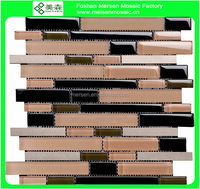 New design bathroom glass mosaic wall tiles foshan beautiful glass mosaic SJ8207
