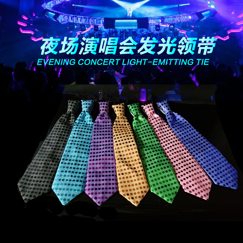 Cheap High Brightness Colorful Led Tie Light Up Christmas Tie