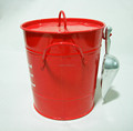 metal ice bucket with lid & shovel