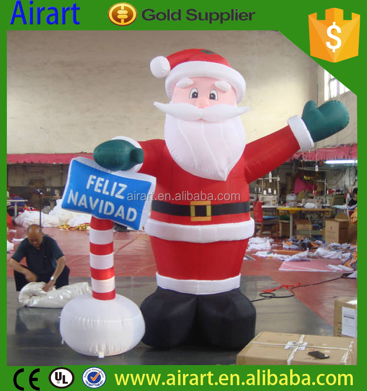 low price giant inflatable santa claus christmas gift decoration standing giant inflatable santa claus