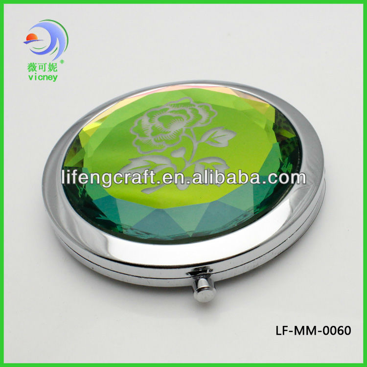 Hot Flower Crystal Cosmetic Mirror / Pocket Mirror / Compact Mirror(LY-CM-005)