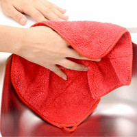 Cheap Wholesale Microfiber Kitchen Hand Towels with Hanger 30cmx40cm 400gsm