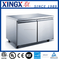ETL/NSF Approved Commercial work-top undercounter refrigerator with two big door_UUC60R