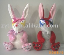 Mp3&mp4 electronic plush electronic rabbits toy for gift