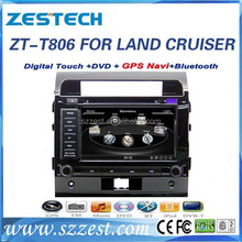 ZESTECH Hot car dashbaord OEM 8 inch double din for toyota land cruiser dashboard