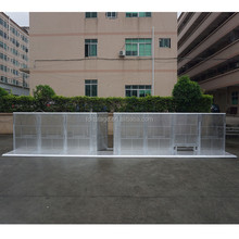 aluminum portable road crowd control barrier for event safty