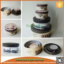 round shape pretty printing wedding cake box making factory