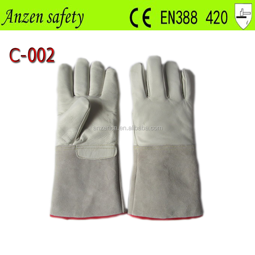china manufacture liquid nitrogen cow hide leather glove