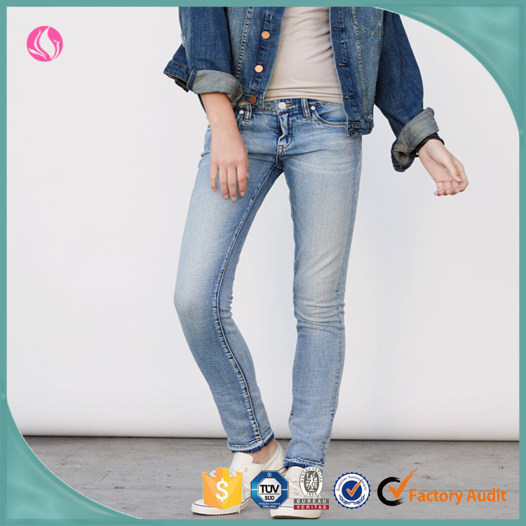 Ladies Jeans Top Design New Tight OEM Embrioderied Designs Photos