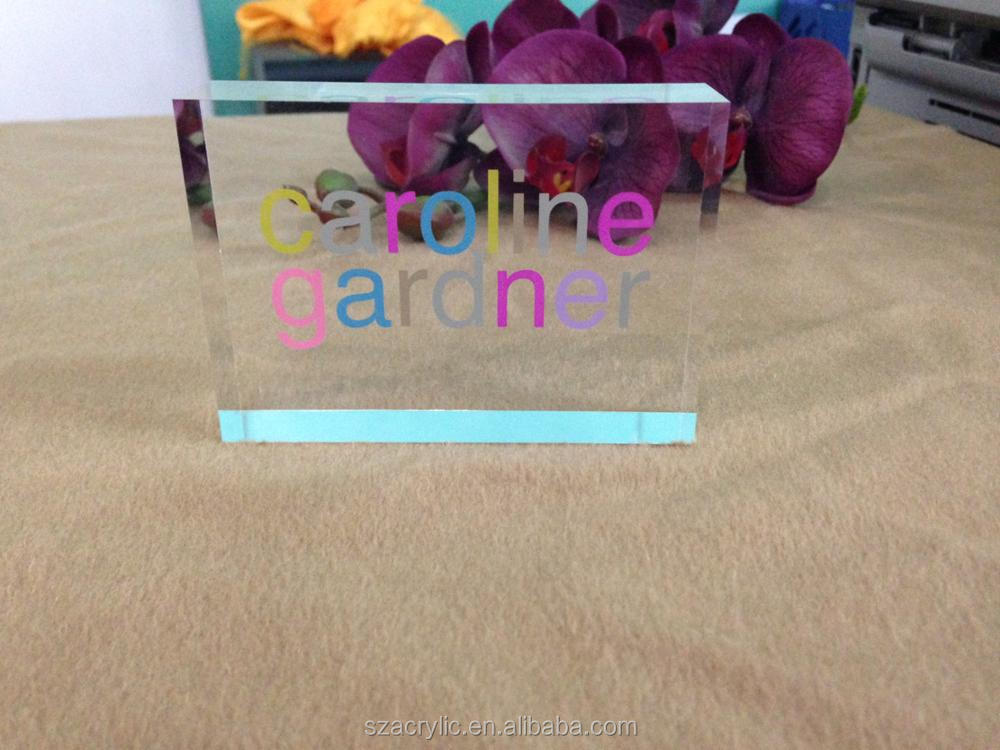custom fashion decorative acrylicl nameplates blank nameplate