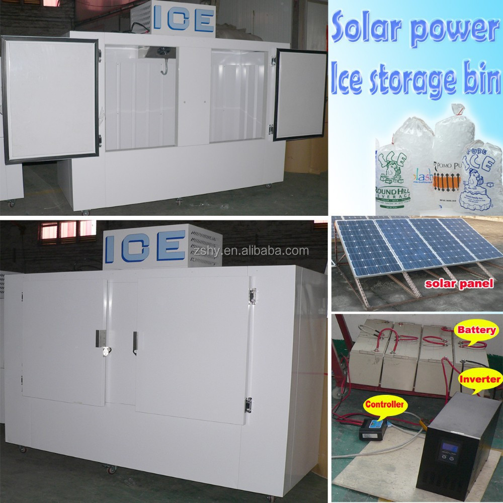 Solar power ice storage box