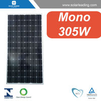 Best price 305w monocrystalline solar module with pv cells for on grid photovoltaic panel system