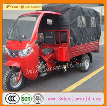 Motorized Driving Type and Cargo Use For 200cc adult cargo tricycle with cabin and cargo box cover