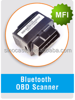 OBD Diagnosis Scanner with 4.0 buletooth mini gps tracking chip for android and iphone